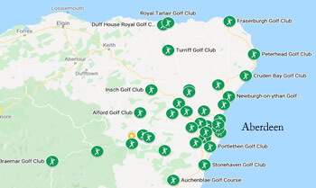 Golf courses in Aberdeenshire