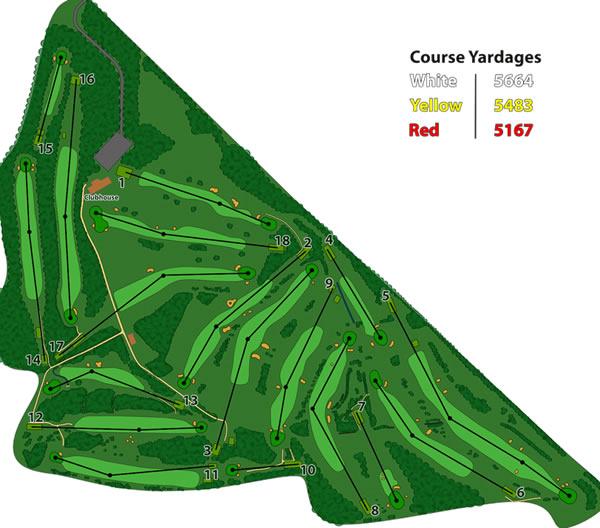 Inverurie Golf Club Layout