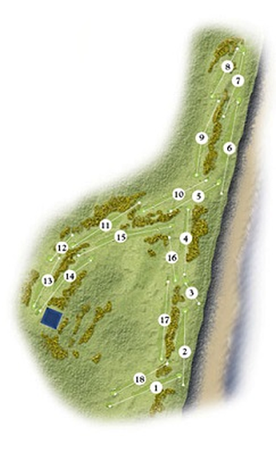 Montrose Golf Links 1562 Course Layout.