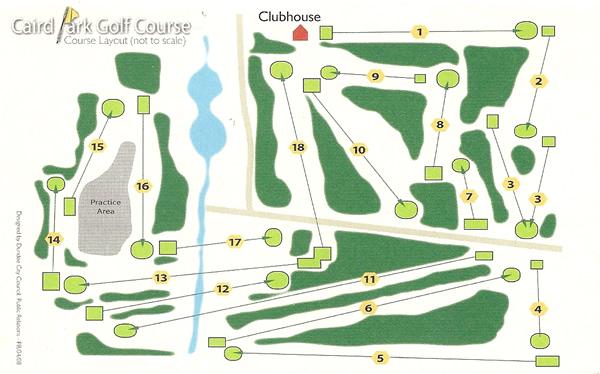Caird Park Golf Course Layout.