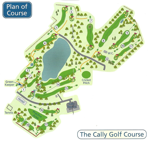 Cally Palace Golf Course Layout.