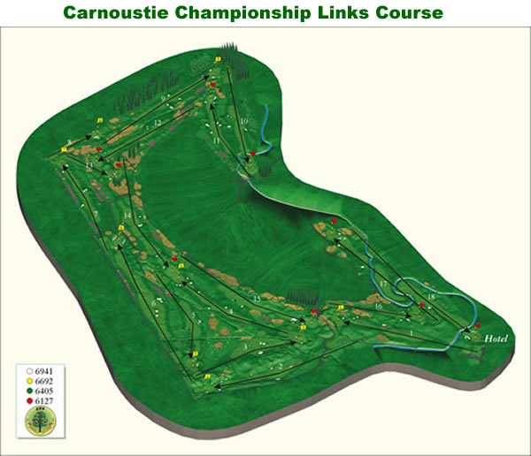 Carnoustie Chamionship Course Layout.
