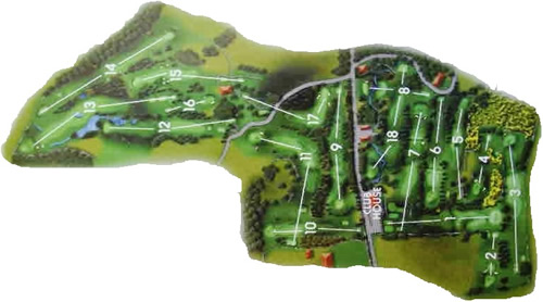 Colvend Golf Club Course Layout.