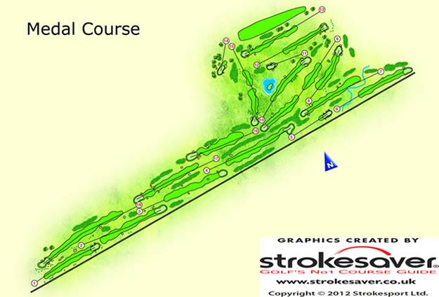 Monifieth Links Medal Course Layout.