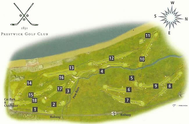 Prestwick Golf Club Course Layout.