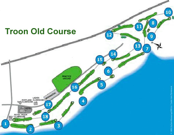 Royal Troon Old Course Layout.