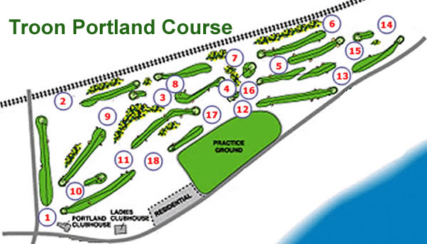 Royal Troon Portland Course Layout.