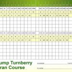 Trump Turnberry Arran Course Scorecard.