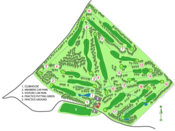 Bonnyton Golf Club Course Layout.