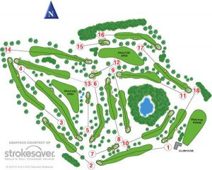 Bruntsfield Links Golfing Society Course Layout.