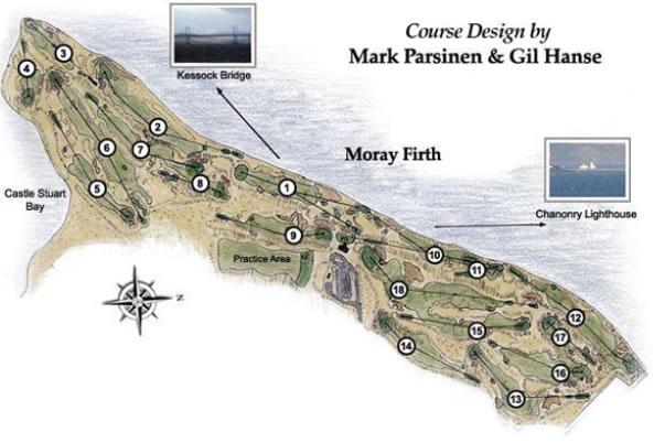Castle Stuart Golf Links Course Layout.