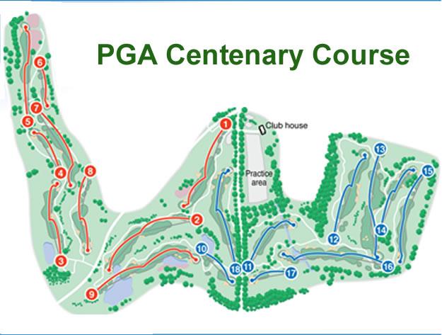 Gleneagles Centenary Golf Course Layout.
