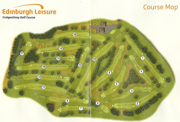 Craigentinny Golf Course Layout.