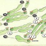Gleddoch Golf Course Layout.