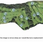 Haggs Castle Golf Club Course Layout.