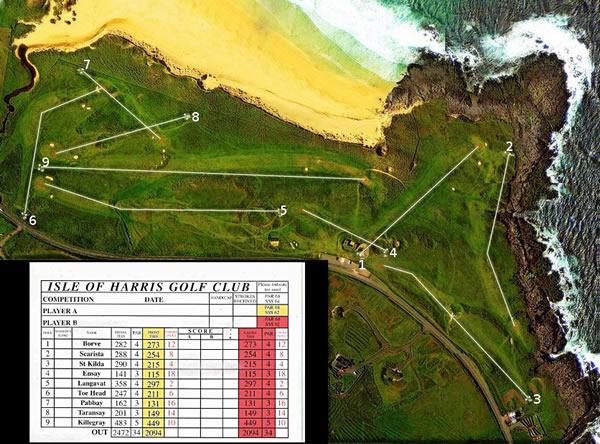 Isle of Harris Golf Club Course Layout.