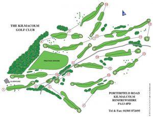 Kilmacolm Golf Club Course Layout.