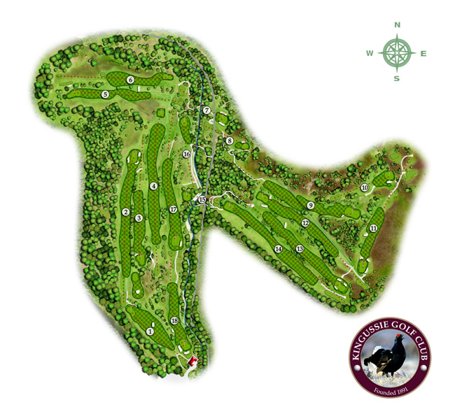 Kingussie Golf Club Course Layout.