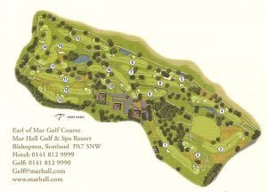 Earl of Mar Championship Golf Course Layout.