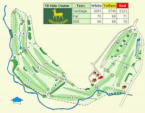 Woll Golf Course Layout.