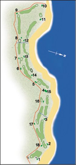The North Berwick Golf Club Course Layout.