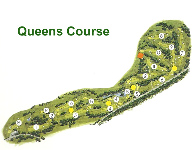 Gleneagles Queens Golf Course Layout.