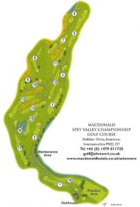 Spey Valley Golf Course Layout.
