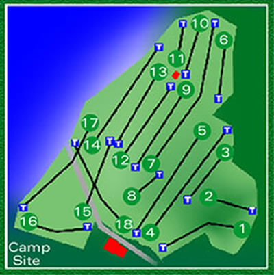 Stromness Golf Club Course Layout.