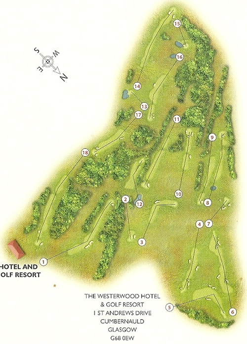 The Westerwood Golf Course Layout.